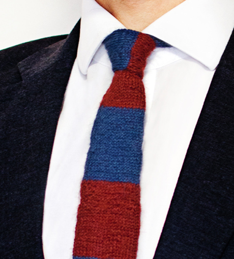 Kravata Stripy Red 01